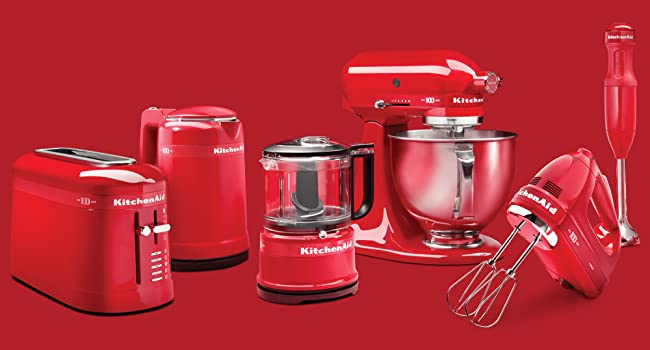 KitchenAid, Passion Red, 100 Year, Limited Edition, Queen of Hearts, Mixer, Blender, Chopper, Kettle