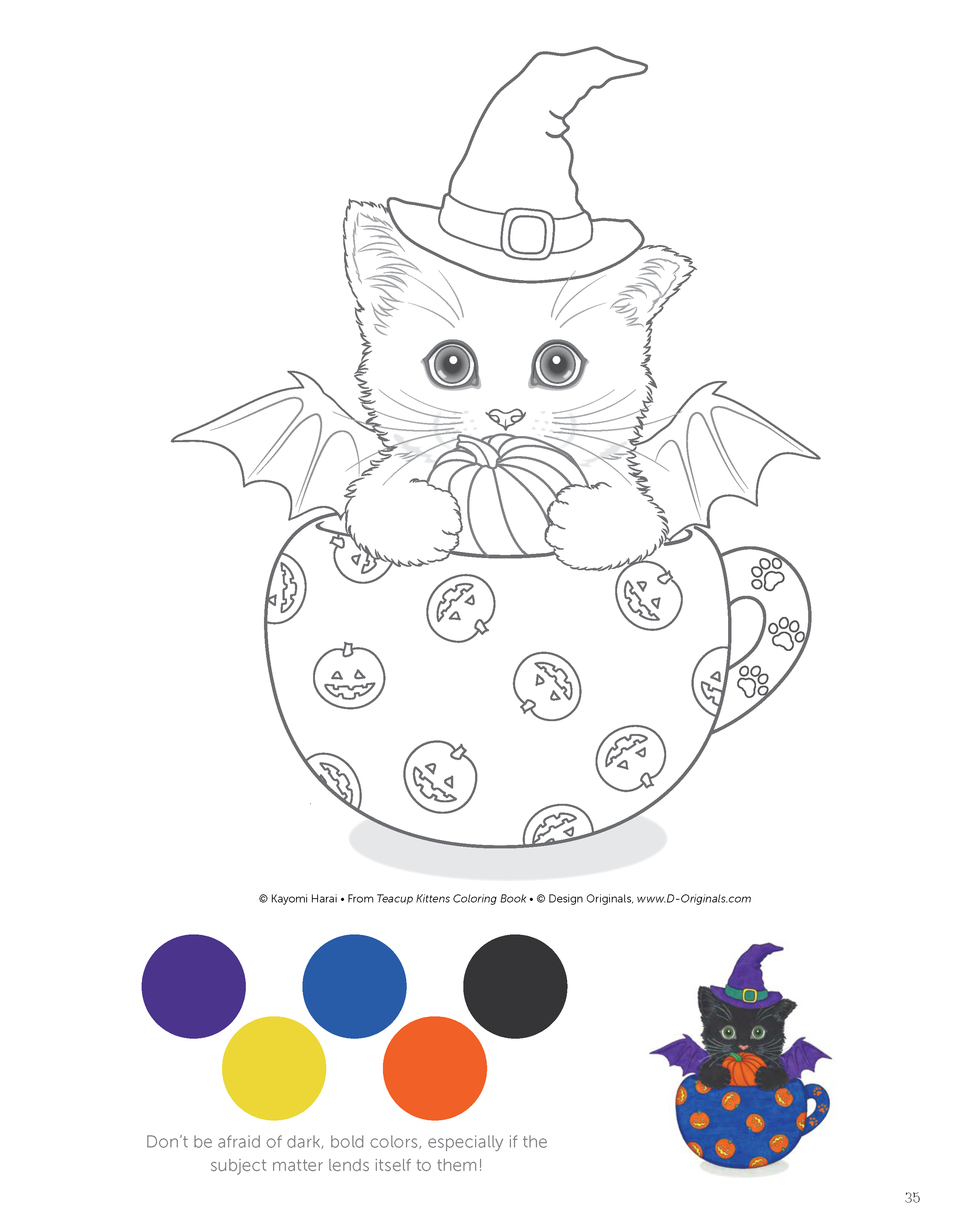 Teacup Kittens Coloring Book (Design Originals) 32 Adorable ...