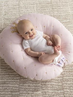 boppy, newborn lounger, princess, luxe, minky, crown, baby registry, best gift, newborn, shower