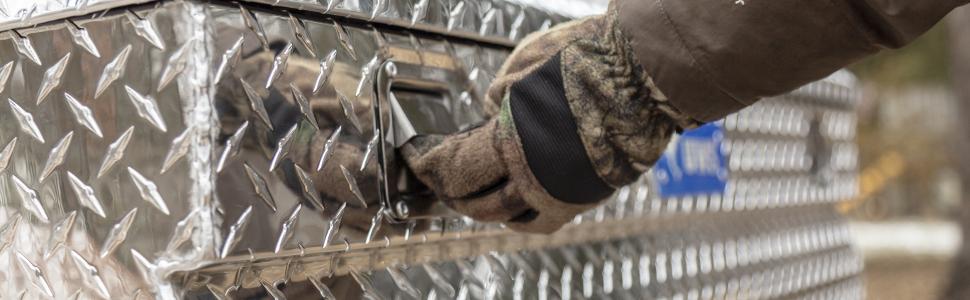UWS Aluminum Side Mount Tool Box Stainless Steel Handles