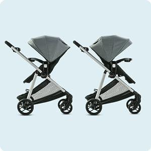 Reversible strollers