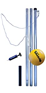 Tetherball set, outdoor, 3 piece, removable, permanent
