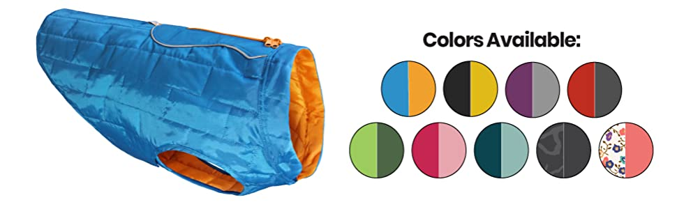 multiple colors reversible dog loft jacket
