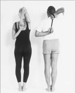 yoga, shoulder stretch