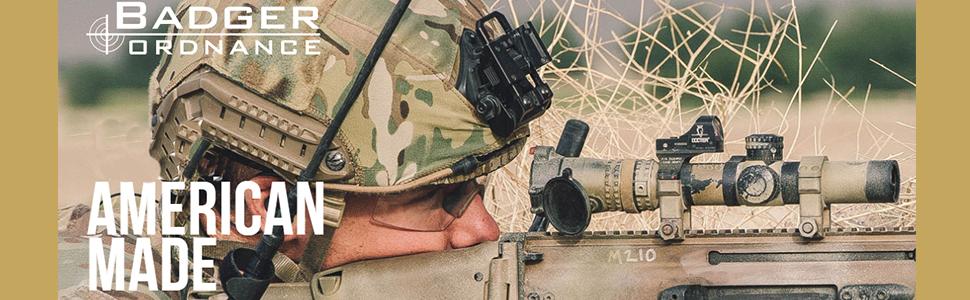"""4.625/"""" long 20 MOA Badger Ordnance 306-67 Unit Mount 34mm 1.3 inch"""