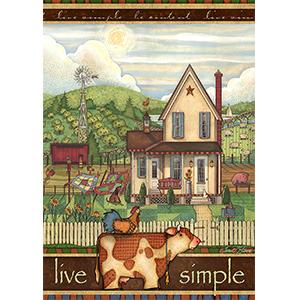 Amazon.com: Toland Home Garden 1012222 Live Simple - Figura ...