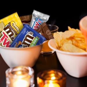 Make an epic candy bowl mixed with everyone's favorite chocolate candy bars.