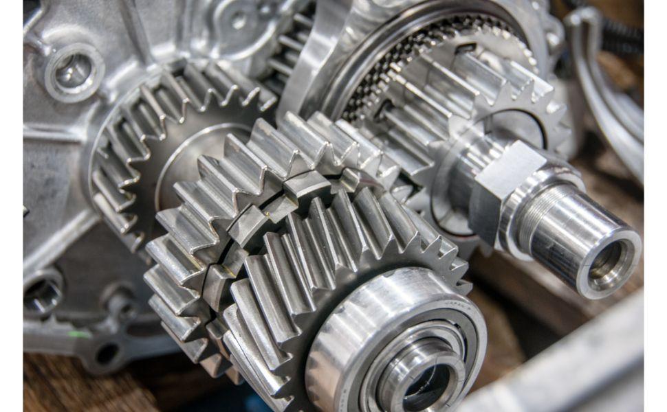 mechanic working on gears