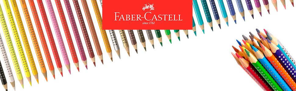 Faber Castell 112424 - Pack de 24 ecolápices triangulares, agarre Grip, acuarelables, multicolor, lápices escolares, multicolor: Amazon.es: Oficina y papelería