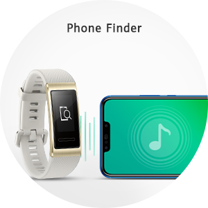 fitness tracker watch trigger the phone's ringer