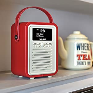 DAB Radio, FM Radio, AM Radio, Retro Mini Radio, VQ, Bluetooth speaker