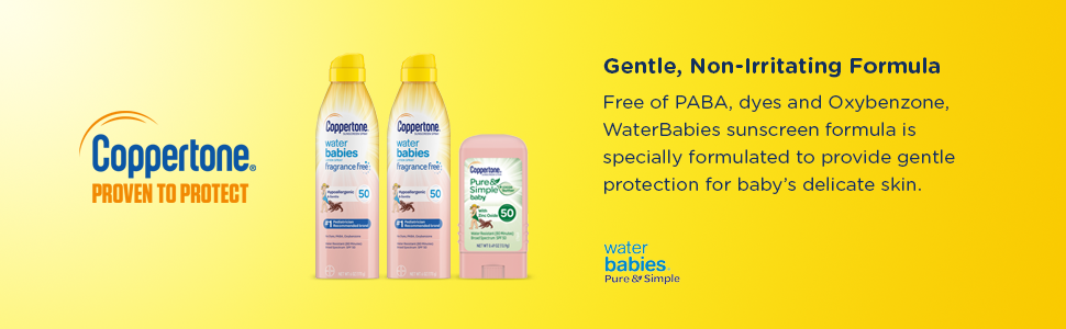 free paba dyes oxybenzone waterbabies sunscreen