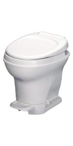 high profile white RV toilet