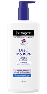 Noorse formule, diepe vochtinbrengende bodylotion Sensitive.