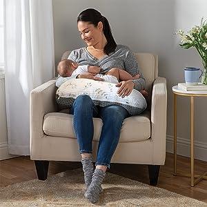 boppy pillow, boppy pillow cover, nursing pillow, infant, newborn, nursing, breastfeeding best latch