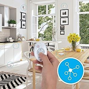 EZVIZ Kit de alarma, incluye 1 central de alarma conectada a Internet, A1, 1 mando a distancia, 1 sensor de puertas y ventanas inalámbrico, T6, 1 ...