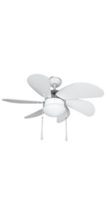 Orbegozo CP 15076 B - Ventilador de techo con luz, 6 aspas de madera, silencioso, 3 velocidades de ventilación, 80 ...
