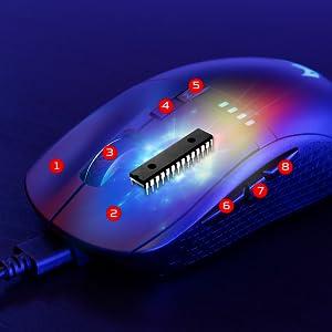 Predator Cestus 350 Gaming Maus Schwarz Blau Computer Zubehör
