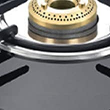 Prestige Magic Glass Top 2 Burner Gas Stove, Manual Ignition, Black SPN-FOR1