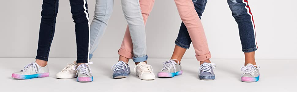 Keds Kids Kickstart Herringbone Messaging Sneaker