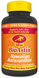 Bioastin hawaiian astaxanthin joint skin eye antioxidant nutrex hawaii supplement vitamin