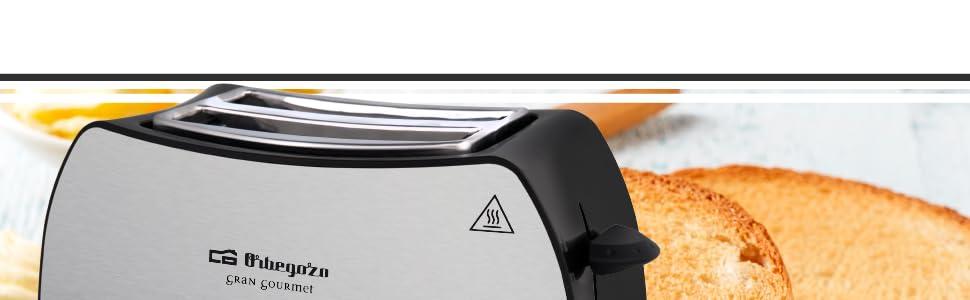 Orbegozo TO 3050 - Tostadora de pan 2 ranuras, carcasa de acero inoxidable, 7 niveles de tostado, 800 W de potencia, función descongelación y recalentamiento, bandeja recogemigas: Orbegozo: Amazon.es: Hogar
