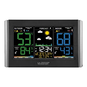 lacrosse; la crosse technology; C85845; color forecast; digital; wireless; thermometer; hygrometer