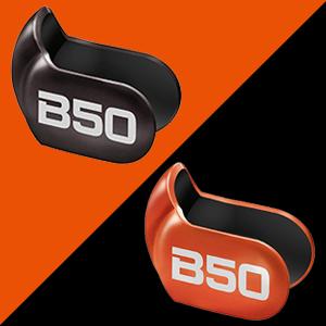 着せ替え可能なメタリックブラック、メタリックオレンジの2色のフェースプレートが付属。 ファッションやフィーリングにあわせてフェースプレートを替えられます。