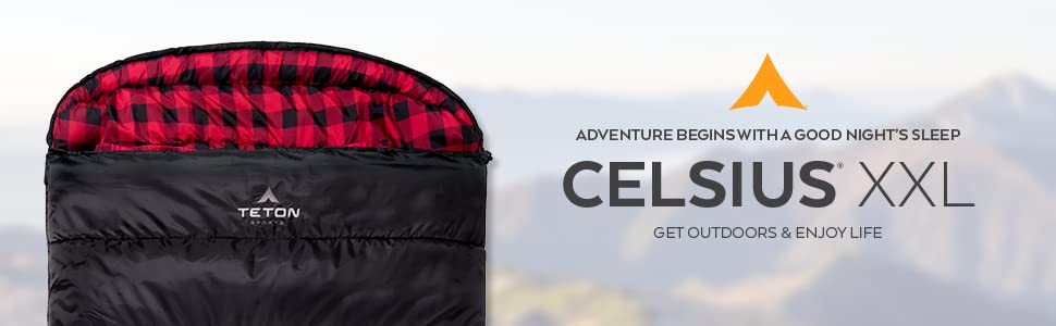 Adventure begins with a good night's sleep in your TETON Sports Celsius XXL Sleeping Bag