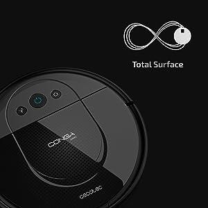 Cecotec Robot Aspirador Conga Serie 1690 Pro. 2700 Pa, Tecnología de Sensor Óptico iTech SmartGyro Eye, App con Mapa, Aspira, Barre, Friega y Pasa la Mopa, Cepillo para Mascotas, Alexa y Google