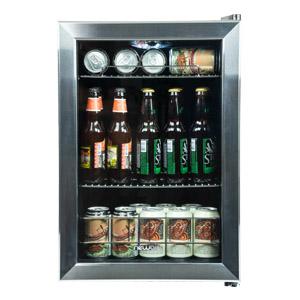 Lighted Beverage Mini Cooler Refrigerator 90 Can Fridge