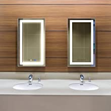Rectangle Vanity Mirror with Lights