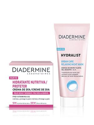 Diadermine - Toallitas Desmaquillantes Hydralist - 6 unidades de 25 toallitas