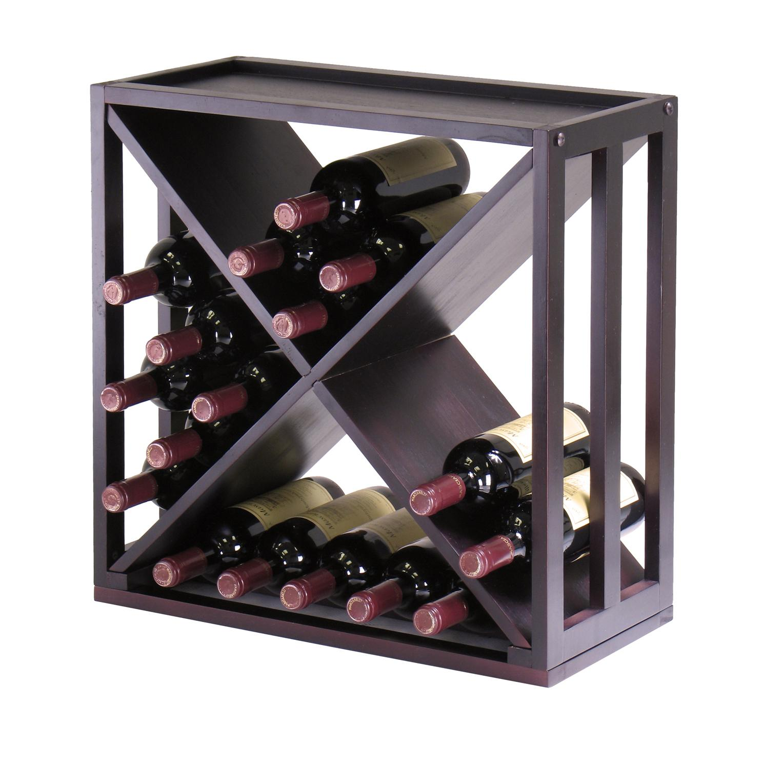 Amazon Com Winsome Wood Kingston Quot X Quot Design Wine Storage