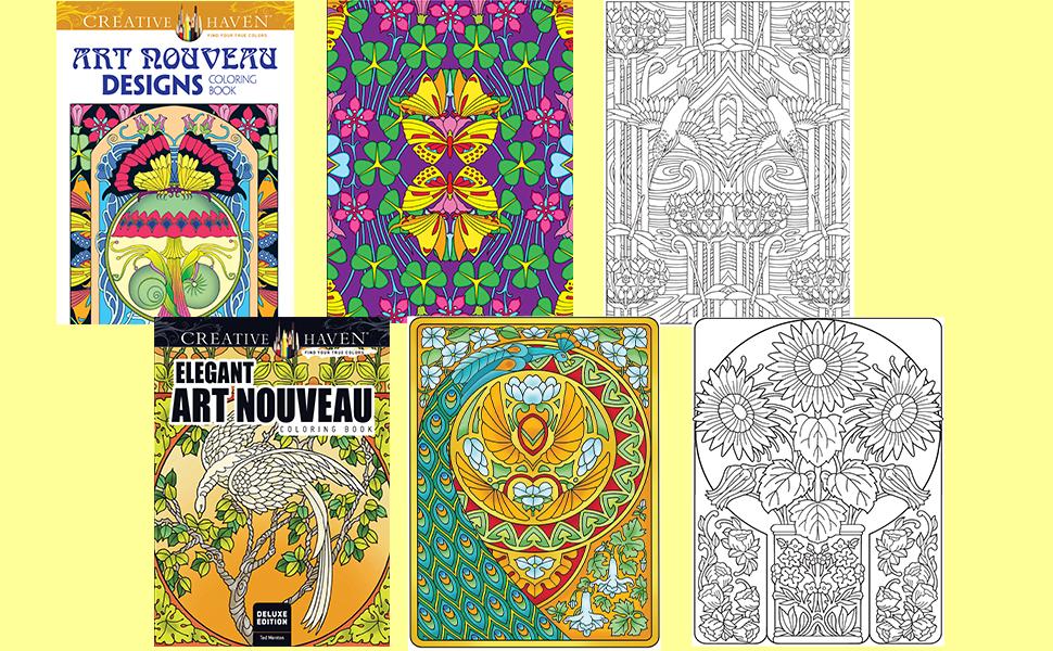 - Amazon.com: Creative Haven Art Nouveau Designs Collection Coloring Book  (Creative Haven Coloring Books) (9780486803517): Dover, Noble, Marty: Books