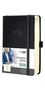 SIGEL C2020 Agenda diaria 2020 Conceptum, tapa blanda 13,5 x ...