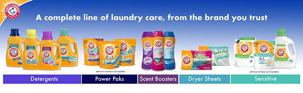 Arm & Hammer 2-in-1 Laundry Detergent Power Paks, 32 ct