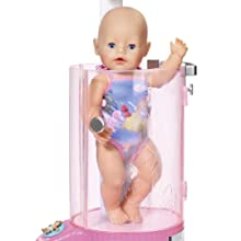 abb91eec314 BABY born and her sister fit perfectly under the BABY born Rain Fun  Shower s adjustable shower head.