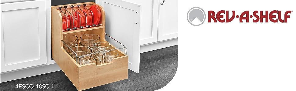 4fsco food storage container organizer