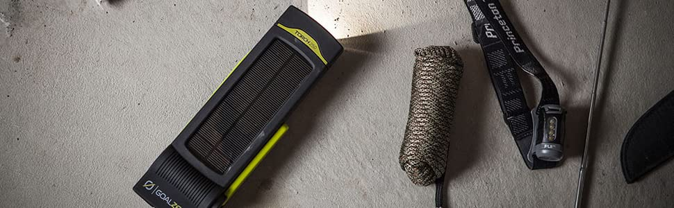 torch, goal zero, flashlight, lantern, USB, recharger, solar, solar panel, hand crank
