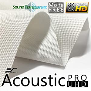 sound transparent projection screen, acoustic projection screen, projector screen material, 4k