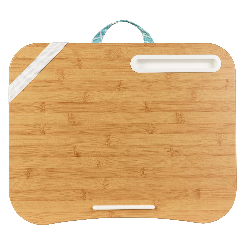 Amazon Com Lapgear Designer Lap Desk Aqua Trellis Fits