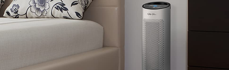 Purificador de aire ionizador 40W potente silencioso 3 filtros ...