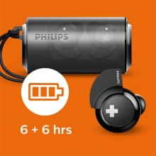 Philips BASS+ SHB4385BK long battery life