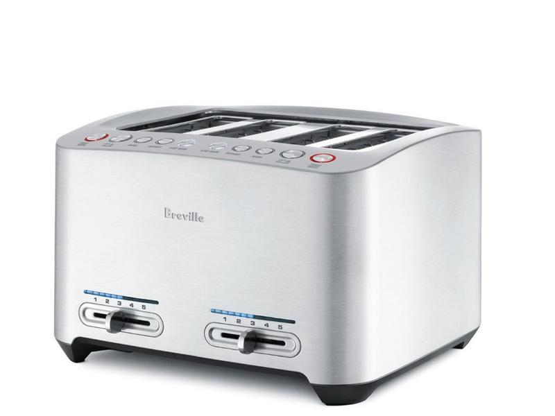 breville bta840xl die cast 4 slice smart toaster commercial toaster kitchen dining. Black Bedroom Furniture Sets. Home Design Ideas