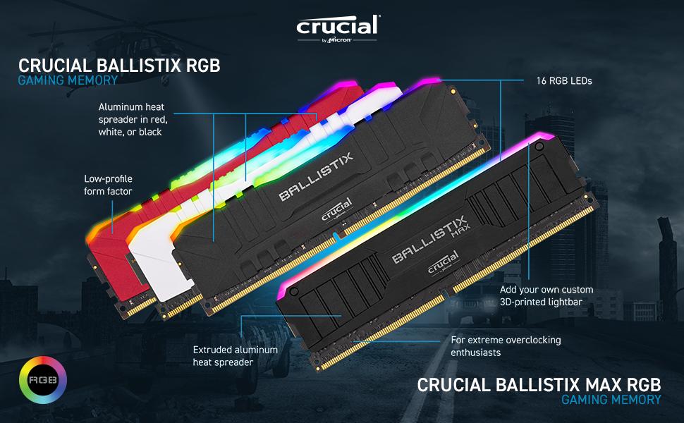 Crucial Ballistix RGB and Crucial Ballistix MAX RGB