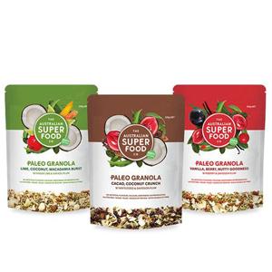 Gluten Free Granola Paleo Cereal Organic Healthy Breakfast Grain Free NON GMO Snacks plants protiens