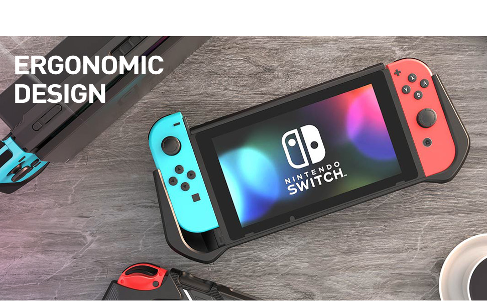 Mumba Dockable Case for Nintendo Switch TPU Grip for Nintendo Switch Console και Joy-Con Controller