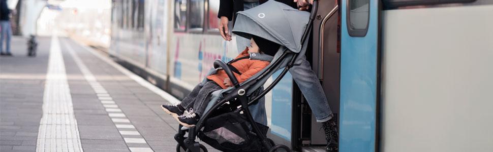 jusqu/à 22kg poussette citadine l/ég/ère et compacte avec pliage automatique Essential Grey De la naissance /à 4 ans Jaya B/éb/é Confort