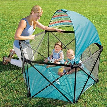 Summer Infant Pop N Play Ultimate Playard Aqua Amazon